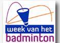 Logo week van het badminton
